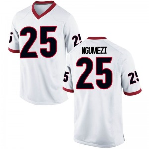 Amanze Ngumezi Nike Georgia Bulldogs Youth Replica Football College Jersey - White