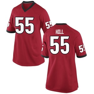 Trey Hill Nike Georgia Bulldogs Women's Replica Football College Jersey - Red