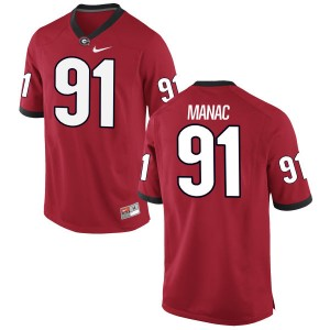 Chauncey Manac Nike Georgia Bulldogs Men's Authentic Football Jersey  -  Red