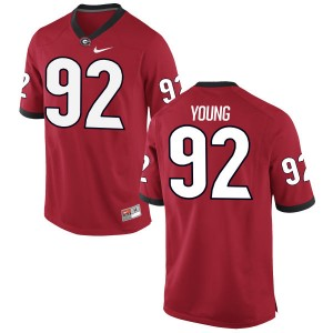 Justin Young Nike Georgia Bulldogs Youth Limited Football Jersey  -  Red